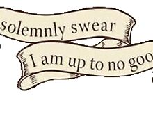 'I solemnly swear i am up to no good' by amy97
