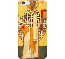 Old Russian icon of St.Nicholas iPhone Case/Skin