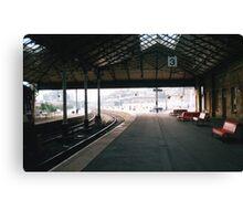 Scarborough Railway Platform 1980s Canvas Print