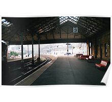 Scarborough Railway Platform 1980s Poster