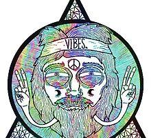 Good Vibes Hippie Triangle Iluminati by amy97