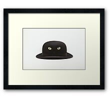 Black Cat Hat Framed Print