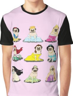 Pug Princesses Version 2 Graphic T-Shirt