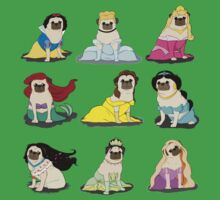 Pug Princesses Version 2 Kids Tee
