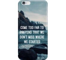 All Time Low Lyrics - Kids in the Dark iPhone Case/Skin