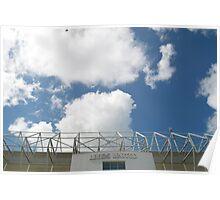 Blue Sky over Leeds United FC Poster
