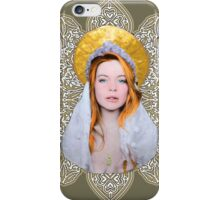 Saint Lindsay Icon Saturated 50 Beige Double Lace iPhone Case/Skin