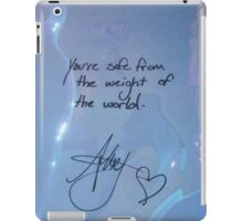 """All Time Low """"You're safe from the weight of the world"""" - Alex Gaskarth Signature iPad Case/Skin"""