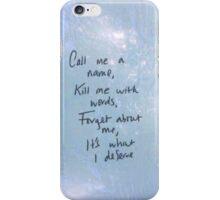All Time Low - Jasey Rae Lyrics iPhone Case/Skin