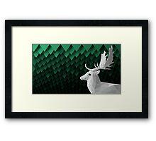 Fallow Deer Profile Framed Print