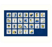 Post Alphabet Art Print
