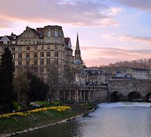 Springtime Sunset in Bath by acarp10