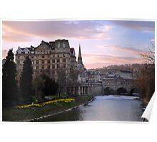 Springtime Sunset in Bath Poster