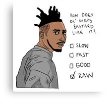How Does Ol' Dirty Bastard Like It? Canvas Print