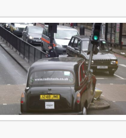 Crashed London Taxi Cab Sticker