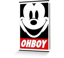 Oh Boy Mickey Greeting Card