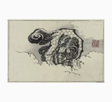 Chinese Lion Dog - Hokusai Katsushika - 1880 - woodcut One Piece - Short Sleeve