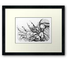 Pen Drawing - Batman Framed Print