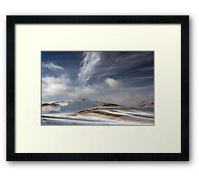 White brush strokes Framed Print