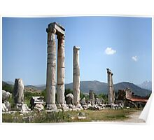 Ionic Columns of The Temple of Aphrodite Poster