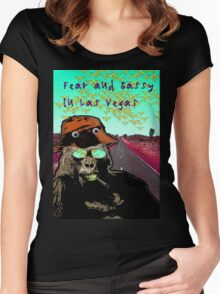 Fear and Sassy In Las Vegas Women's Fitted Scoop T-Shirt