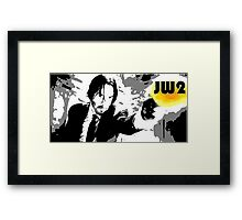 JW gives you his best shot Framed Print