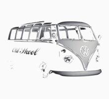 vw bus, Old Skool One Piece - Long Sleeve