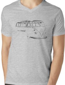 vw bus, Old Skool Mens V-Neck T-Shirt