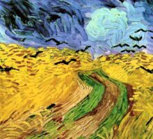 Wheat Field with Crows by Vincent van Gogh Sticker