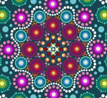 Dot painting meets mandala 1 Sticker