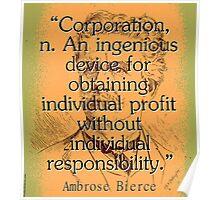 Corporation - Bierce Poster