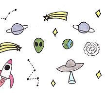 Space Stickers by happysoul