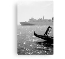 Two Boats, Venice Italy. Canvas Print