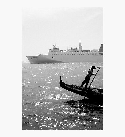 Two Boats, Venice Italy. Photographic Print