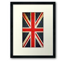 Vintage Union Jack British Flag Framed Print