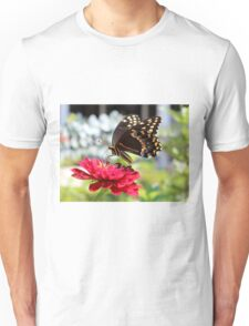 Butterfly On Red Flower Unisex T-Shirt