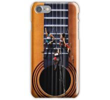 Surreal Guitar Climbers iPhone Case/Skin