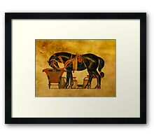 Black Stallion Framed Print