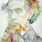 CHARLES DICKENS - watercolor portrait.2 by lautir