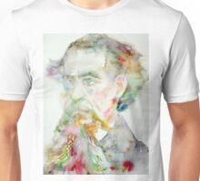 CHARLES DICKENS - watercolor portrait.2 Unisex T-Shirt