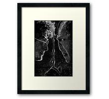Deathly Hallows Part 2 Ink Design Framed Print