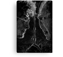 Deathly Hallows Part 2 Ink Design Canvas Print