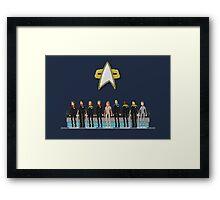 Star Trek: Voyager - Pixelart crew Framed Print