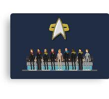 Star Trek: Voyager - Pixelart crew Canvas Print