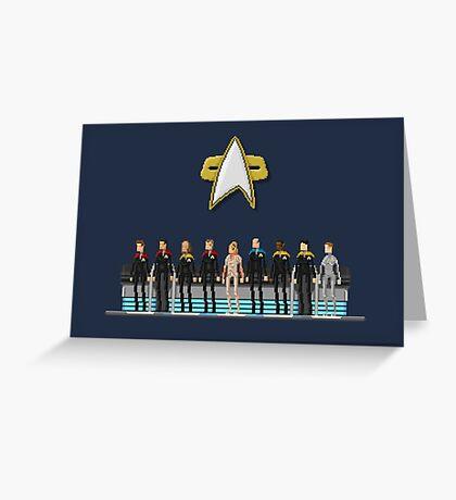 Star Trek: Voyager - Pixelart crew Greeting Card