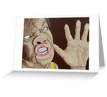 Trapped-self portrait Greeting Card