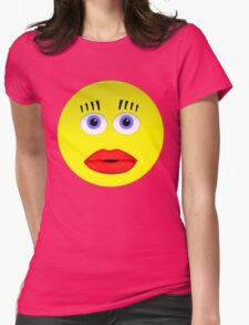 Smiley Female With Big Lips Womens Fitted T-Shirt