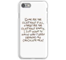 Glass Half Full iPhone Case/Skin