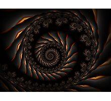 Black Spiral Fractal Photographic Print