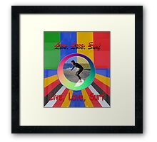 Live Love Surf holiday vacation water sports design Framed Print